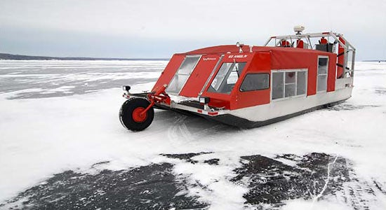 Ice Hovercraft School Bus Is Coolest, Worst News for Students Ever