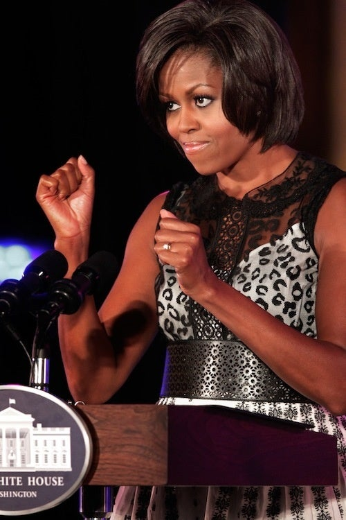 Michelle Obama Gets Ready To Spar