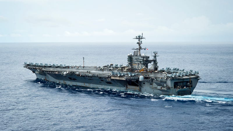 this is what the uss george washington is doing in the philippines