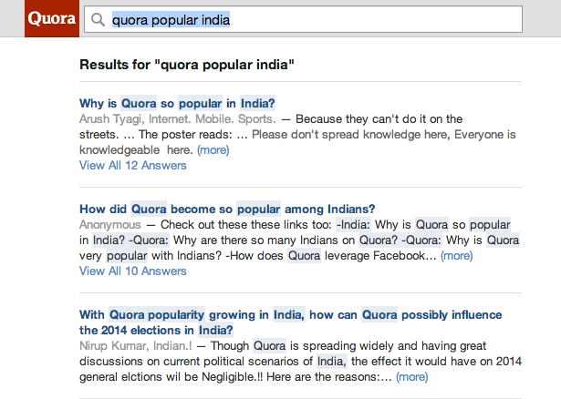 Most of Quora's Traffic Is Now Coming from India