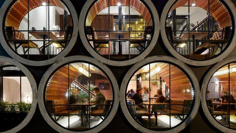 Eating In Concrete Tubes Is Not As Dystopian As It Sounds