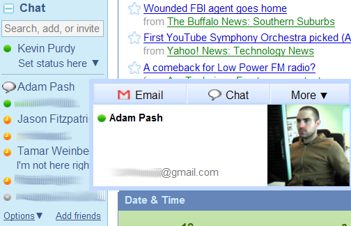 iGoogle Adds Sidebar Chat, Works Just Like Gmail