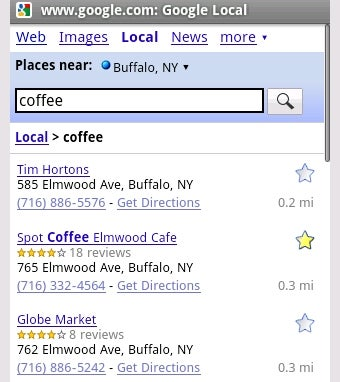 Google Mobile Adds New Local Search, Universal History
