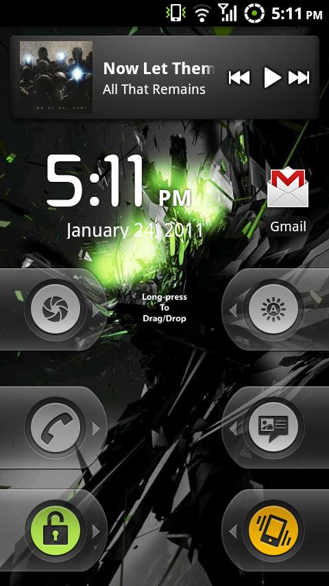WidgetLocker Customizes The Sliders on Android's Lock Screen