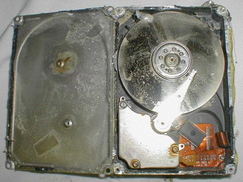 Charred Hard Drive from Space Shuttle Columbia Recovered (Best Data Rescue Ever?)