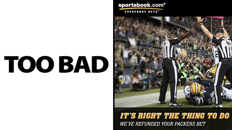 A Sports Gambling Website Refunded Everyone's Packers Bets Because the NFL's Replacement Refs Were So Bad