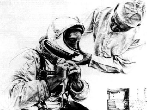NASA Loaned Norman Rockwell a Spacesuit for This Picture