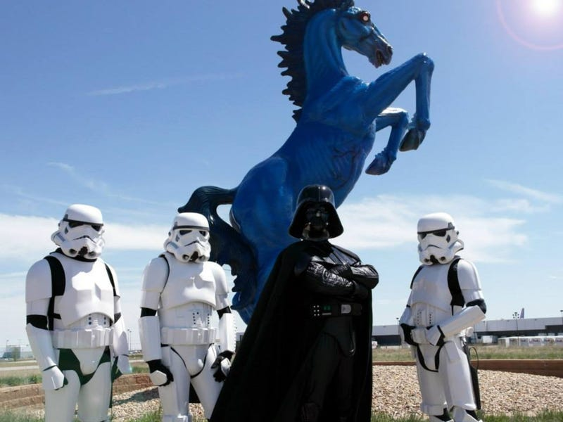 Denver Airport Invaded by Darth Vader & Stormtroopers