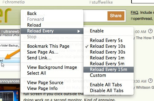 ReloadEvery Keeps Web Pages Refreshed on a Schedule