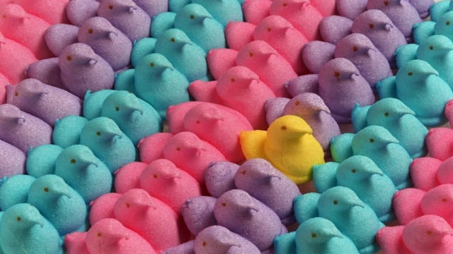 Here's What Happens When You Throw A Marshmallow Peep Out An Airlock