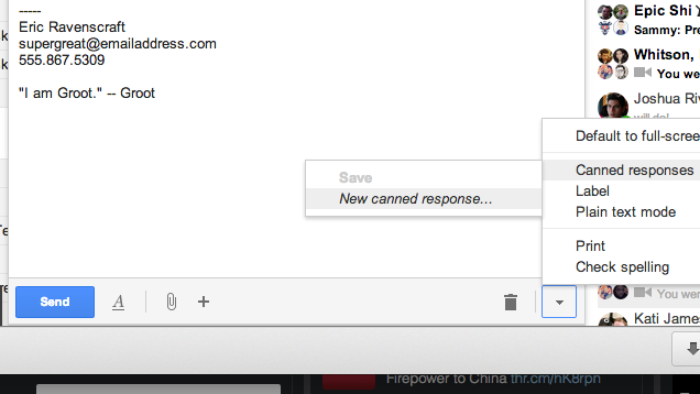 Use Canned Responses to Create Multiple Email Signatures in Gmail