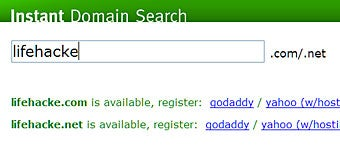 As-you-type Instant Domain Search