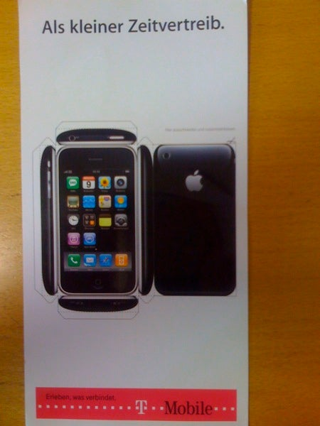 T-Mobile Germany Mails Papercraft iPhone 3G Templates Instead of Actual Phones