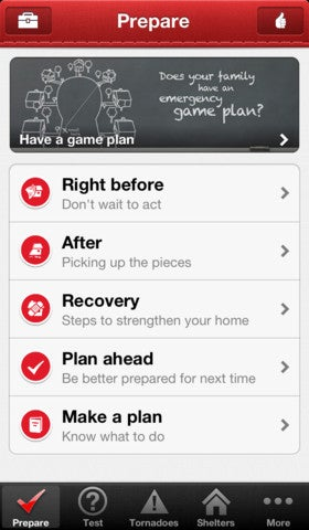 Red Cross Tornado App Gallery