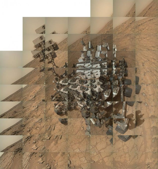 Curiosity s self-portrait on sol 177 is composed of 64 individual    Mars Curiosity Selfie