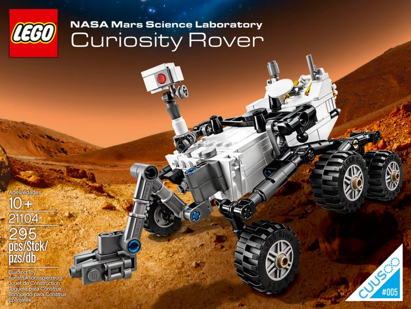 Here's the first look at Lego's official Curiosity Rover model