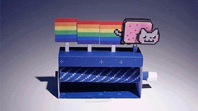 Make Your Own Flying Nyan Cat From Paper
