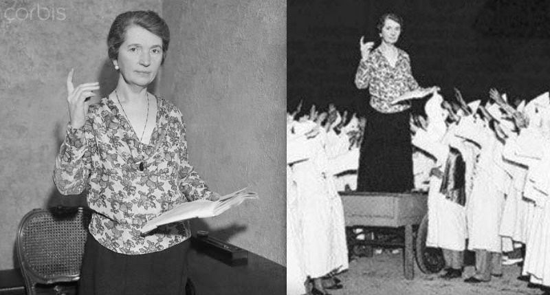 Margaret Sanger Once Spoke to the KKK, But This Photo of the Speech Is Very Fake