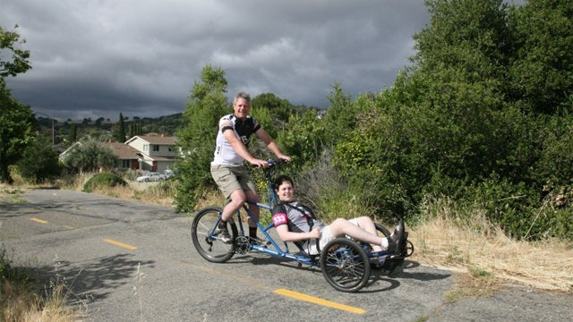 How a Homemade Tandem Tricycle Helped a Young Man After a Brain Injury