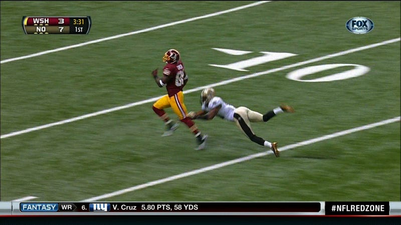 Robert Griffin III's First Touchdown Pass Was An 88 Yard Strike