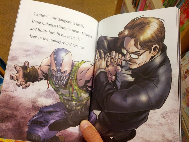 Does a children's book reveal Jim Gordon's fate in The Dark Knight Rises?