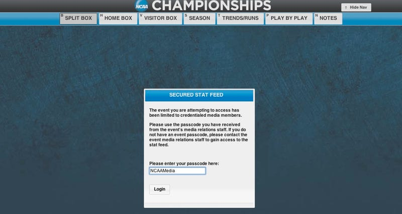 Wanna Know What Happens In A March Madness Game Slightly Before It Airs On TV? Use This Password