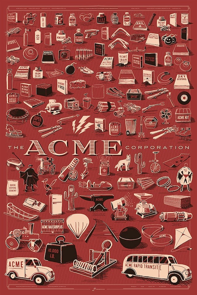Crowdfund Bill Nye's science game, the Showrunners documentary, and a massive poster of Wile E. Coyote's ACME products