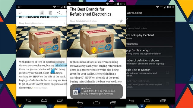 WordLookup Finds Dictionary Definitions Just About Anywhere in Android