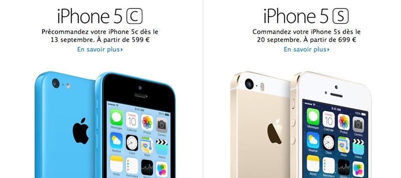 ¿Cuánto cuestan los nuevos iPhone 5S y 5C?