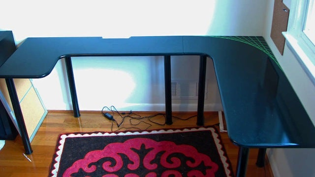 Build Your Own U-Shaped Computer Desk for Less than $100