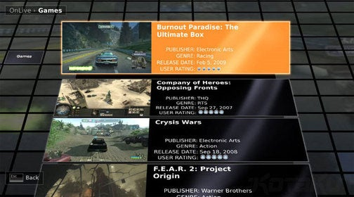 It's Too Early To Discuss Whether Xbox 360 Could Do OnLive