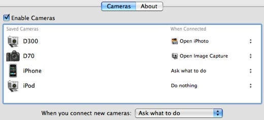 Cameras Improves the Way OS X Deals with Connected Cameras