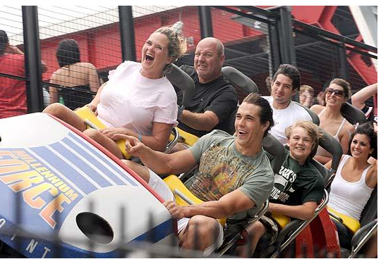 Brady Quinn Day At The Amusement Park Went WHEEEEEEEEEEEEEEEEEEEEEEEEEEEEEE!