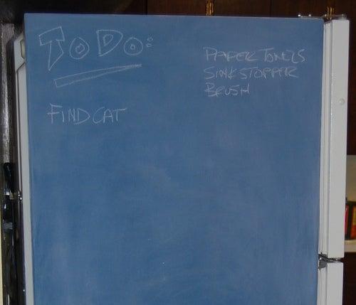 Turn a Fridge into a Household Chalkboard