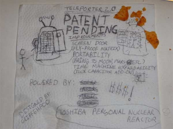 30 Napkin Sketches Prove There's a Little Inventor in All of Us
