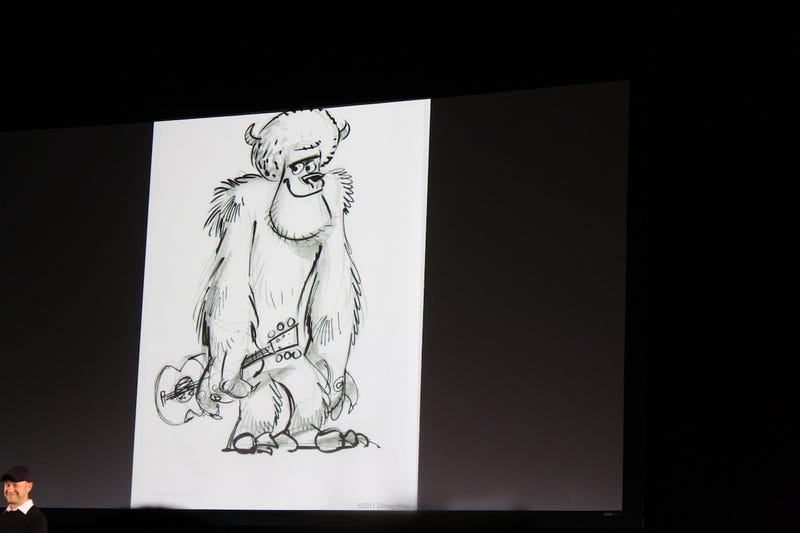 Monsters University Concept Art! Behold Sulley's freshman 15 and Mike's retainer