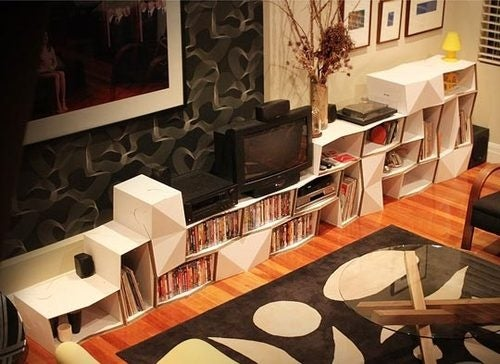The Cardboard Media Center Is a Step Up from Cinderblocks and Planks