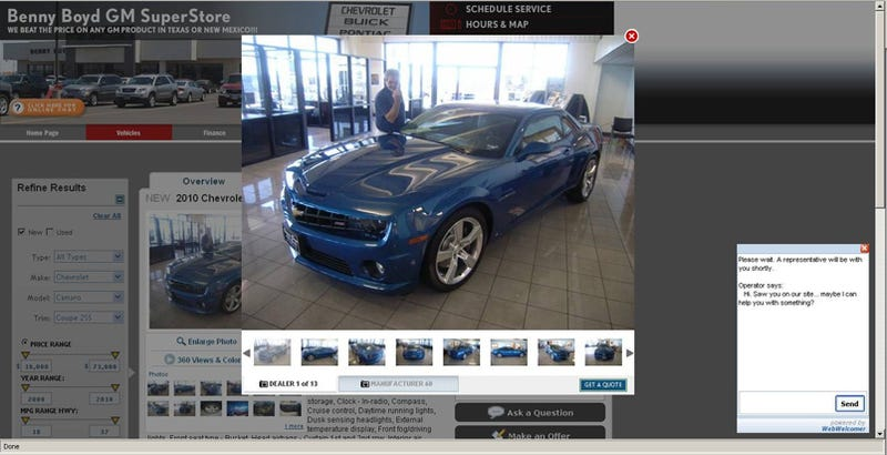 Dealership Flicks Off Prospective Camaro SS Buyers