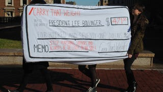 Columbia Rape Protesters Pay Fine With Giant Check Written On Mattress