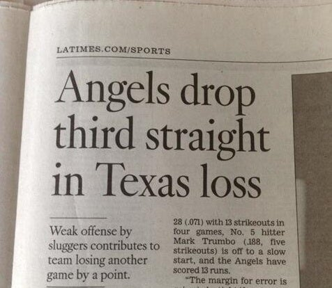 "Baseball Team Loses ""Another Game By A Point,"" According To Newspaper"