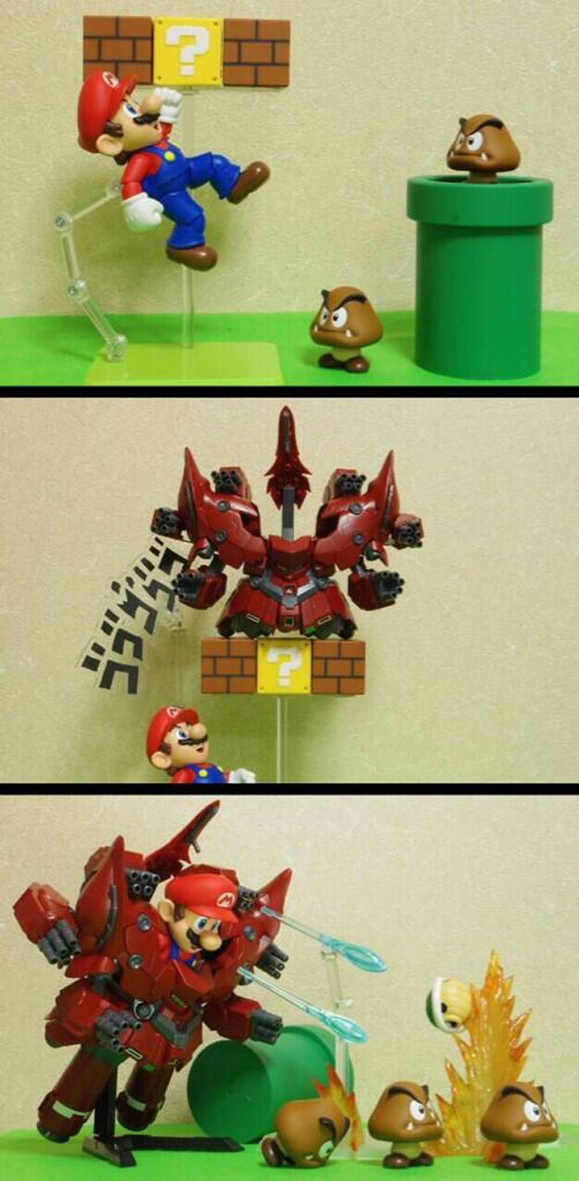 Mario is Now Piloting a Gundam Mecha