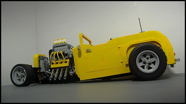 More LEGO madness... AFOL designs/builds coolest hot-rod yet...