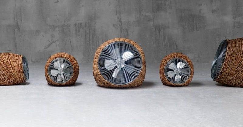 An Inconspicuous Wicker Fan That Blends In With Your Cottage Decor