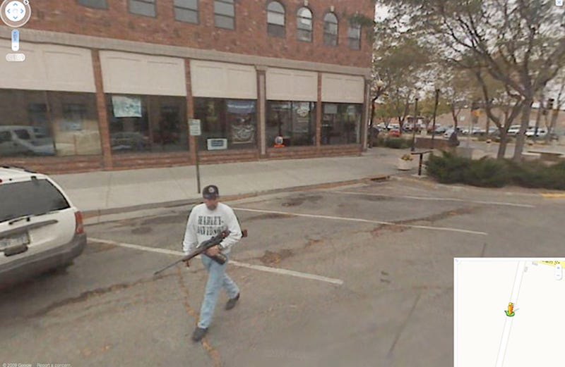 Google Street View Completes Tour of Real America With Dude Carrying Rifle