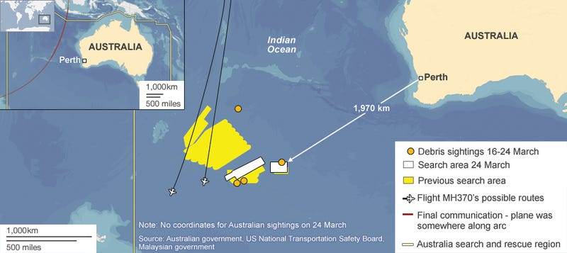 Tracking the pings from Flight MH370