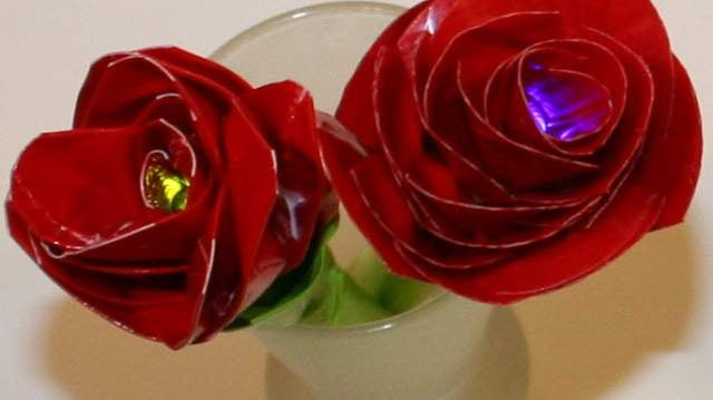 Make a Duct Tape Electric Rose