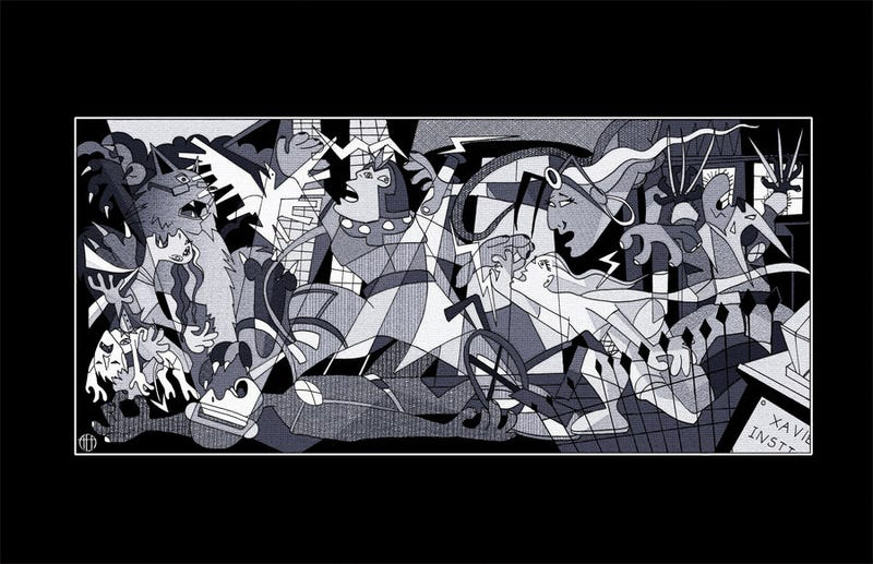 Picasso's Guernica, now featuring the X-Men