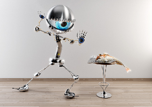 Andre Kutscherauer Robot Art Reminds Us Not to be Cocky