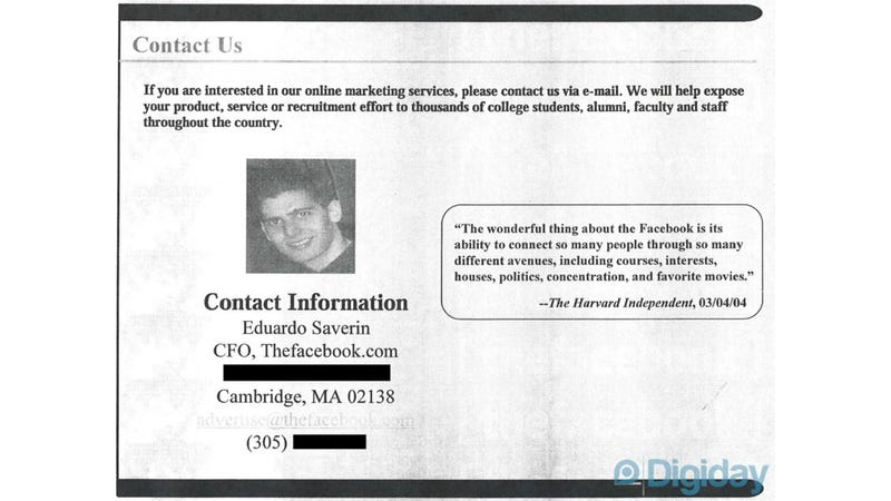 How Facebook Pitched Itself Before You'd Ever Heard of It