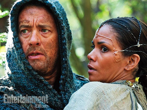 First images from Cloud Atlas show off the wild face implants of the future!